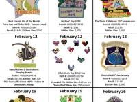 February WDW Disney Pins