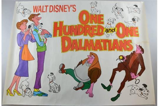 101 dalmatians disney quad poster