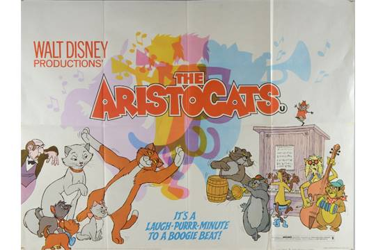 aristocats disney quad poster