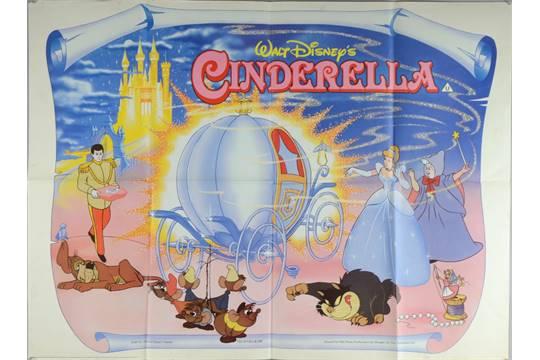 cinderella disney quad poster