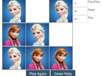 Elsa and Anna Tic Tac Toe Game