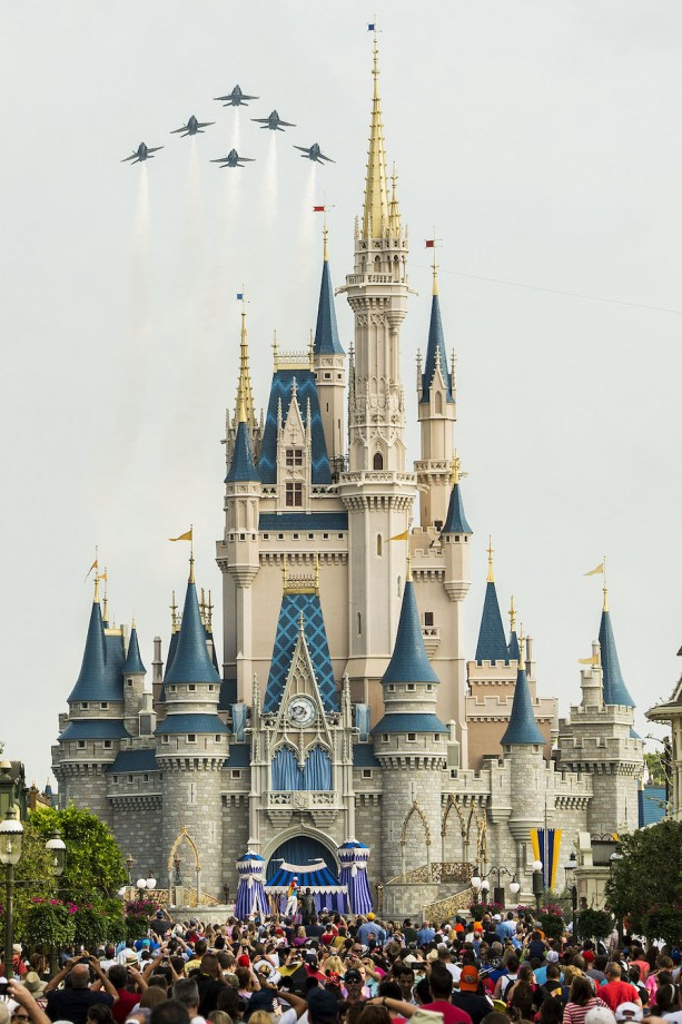 This Week in Disney Parks Photos: U.S. Navy Blue Angels Amaze at Magic Kingdom Park