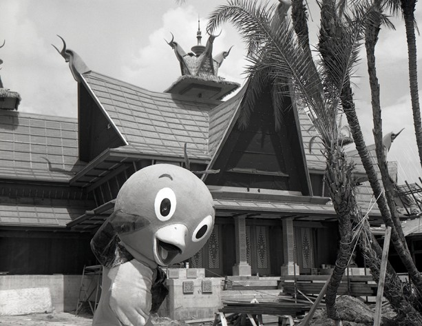 Found Photo: Orange Bird Visits Adventureland at Magic Kingdom Park, 1971