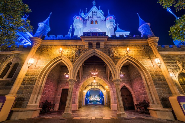 Disney Parks After Dark: Sleeping Beauty Castle at Hong Kong Disneyland