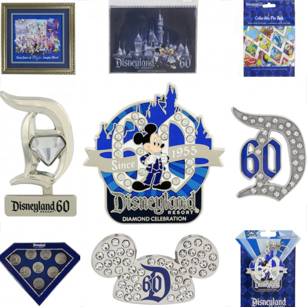 Disneyland Resort Diamond Celebration Pins Will Dazzle You