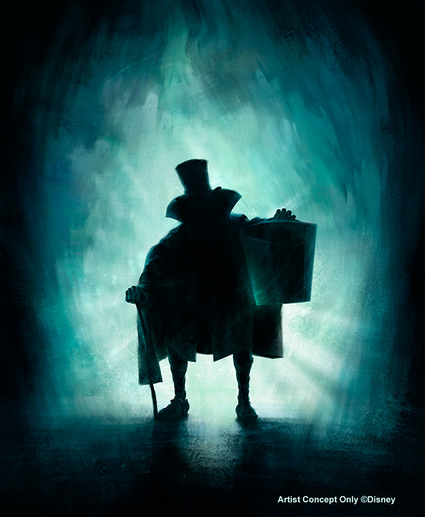 Legendary Hatbox Ghost Comes Out to Socialize in the Haunted Mansion at Disneyland Park in May