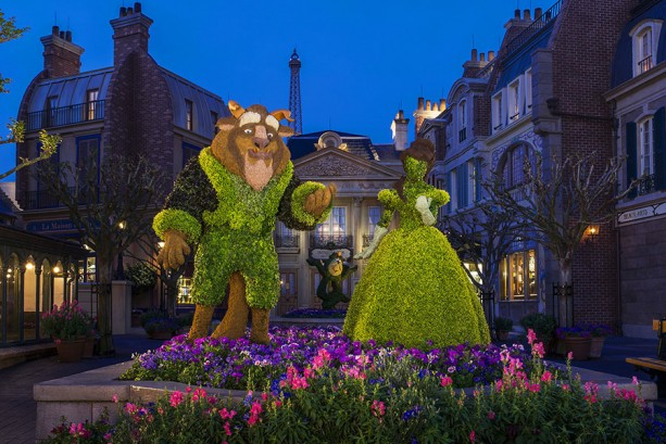 Disney Parks After Dark: Epcot International Flower & Garden Festival Blossoms at Night