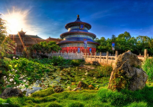 It's a Peaceful Morning at the China Pavilion at Epcot