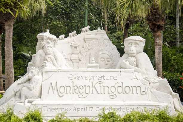Disney's Animal Kingdom Celebrates Upcoming 'Monkey Kingdom' Film with Giant Sand Sculpture