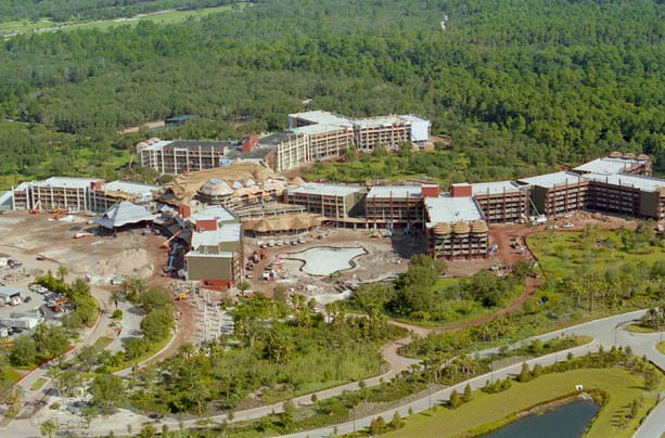 Disney Days of Past: Disney's Animal Kingdom Lodge Constructed