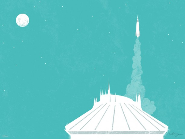 Magic Kingdom Park's Tomorrowland Inspires Our Latest Desktop/Mobile Wallpaper