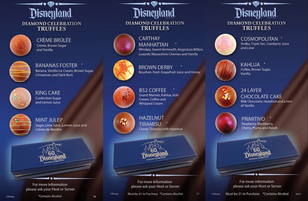 Disneyland Resort Diamond Celebration Truffles Debut at Signature Restaurants