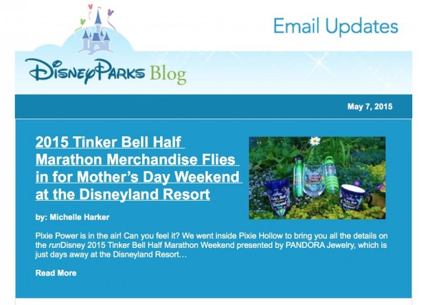 Disney Parks Blog Email Newsletter Relaunches