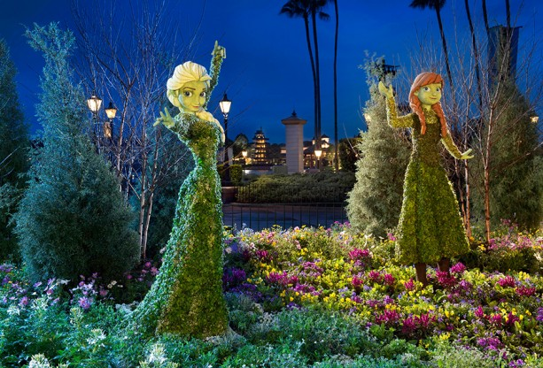Behind the Scenes: Creating Anna & Elsa Topiaries for the Epcot International Flower & Garden Festival