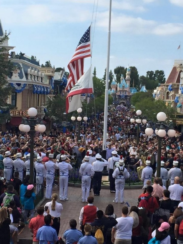 Memorial Day Flag Retreat Ceremony at Disneyland Park Honors Fallen Soldiers