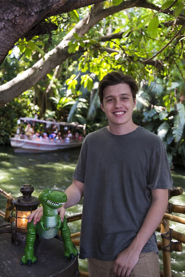 'Jurassic World' Star Nick Robinson Goes on an Adventure at Disneyland Park