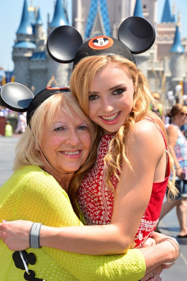 Peyton List and Her Grandma Share a Special Day at Walt Disney World Resort