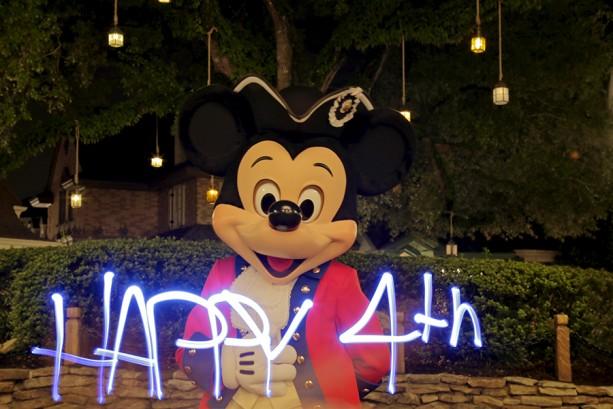 Light-Painting Video Marks Fourth of July Magic at Walt Disney World Resort