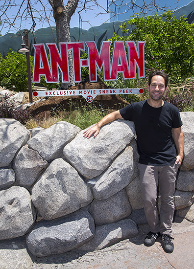 'Ant-Man' Star Paul Rudd Surprises Fans at Disney California Adventure Park