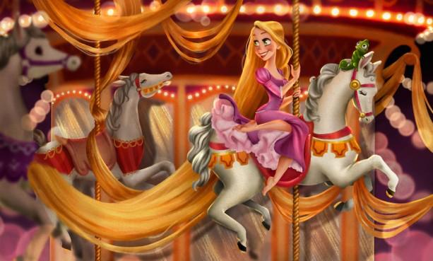 #DisneySide Doodles: Rapunzel Takes a Carousel Spin