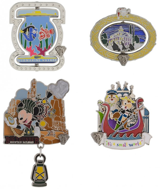 Disneyland Resort Diamond Celebration August Pin Releases
