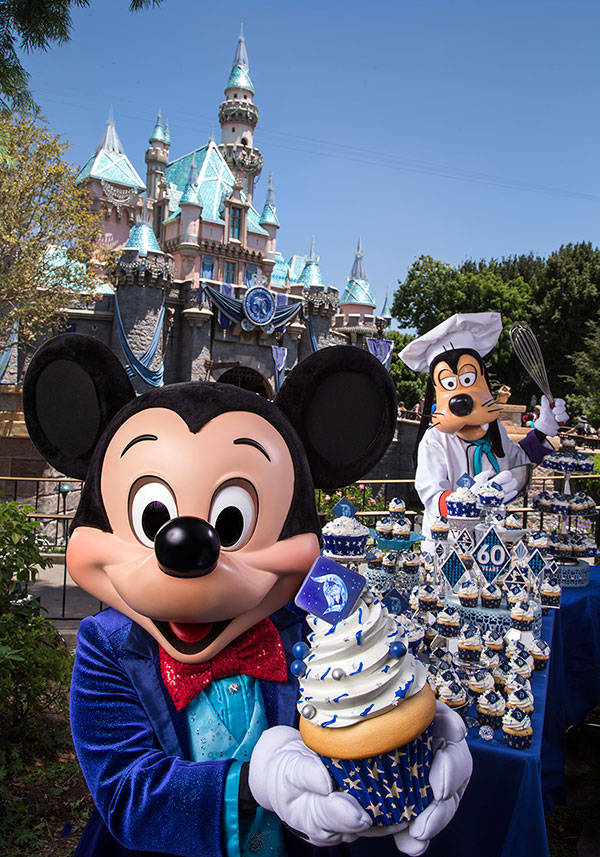 Disneyland Resort Guests Treated to Cupcakes for 60th Anniversary Celebration Today