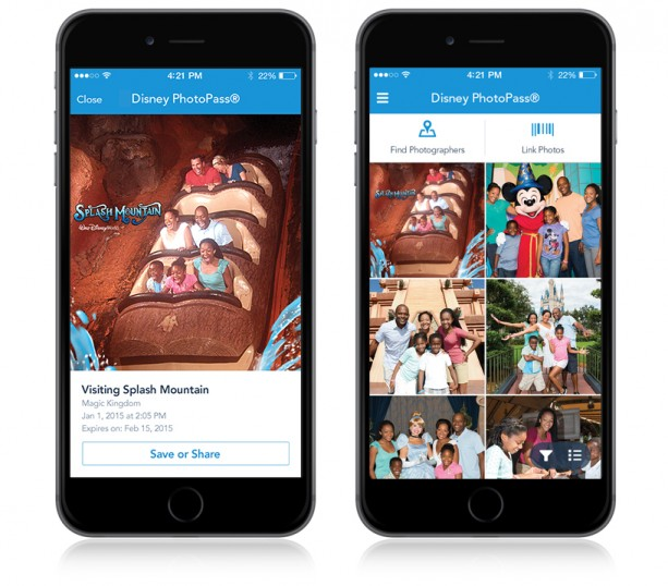 New Disney PhotoPass Enhancements to the My Disney Experience Mobile App