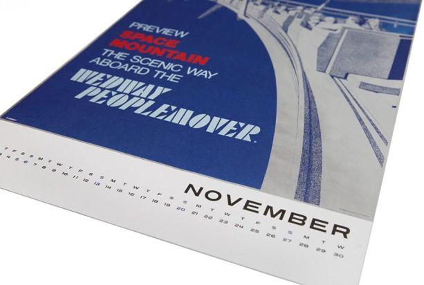 Disney Parks Attraction Poster Deluxe Calendar Returns for 2016