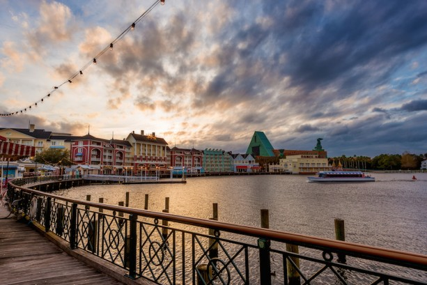 Disney Parks After Dark: Dusk at Disney's BoardWalk