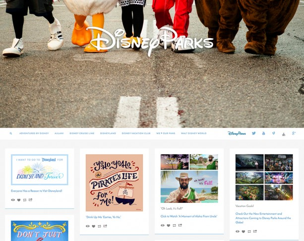Follow Disney Parks on Tumblr