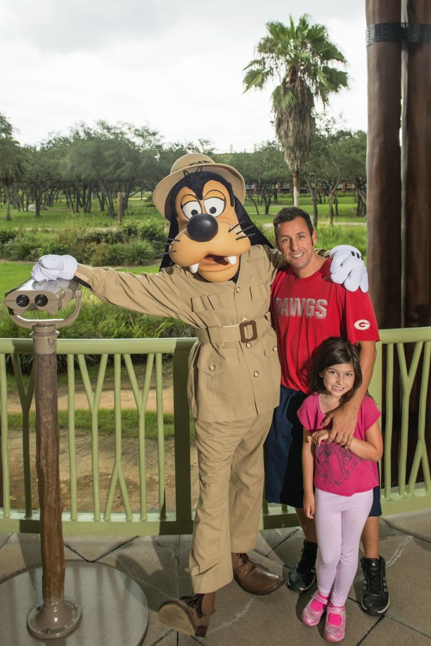 Adam Sandler and Family Visit Walt Disney World Resort