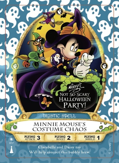 New 'Minnie Mouse's Costume Chaos' Sorcerers of the Magic Kingdom Card To Debut at Mickey's Not-So-Scary Halloween Party