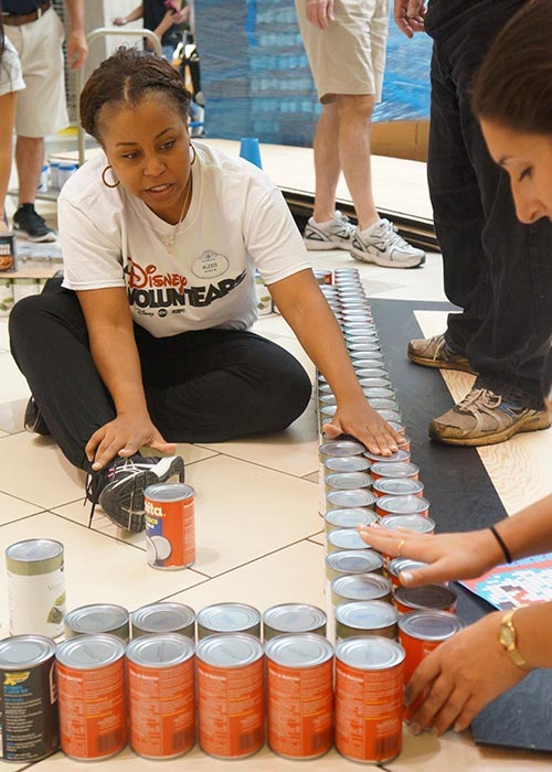 Disney VoluntEARS Become Superheroes for a Day during CANstruction Competition