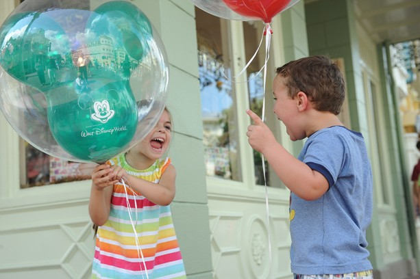 Caption This: Balloons Equal Excitement at Magic Kingdom Park