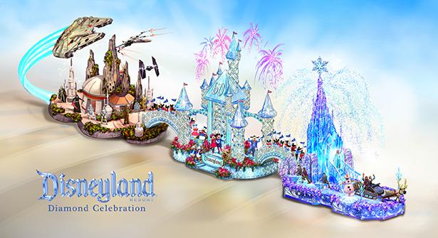 Disneyland Resort Diamond Celebration Float to Dazzle at 2016 Rose Parade