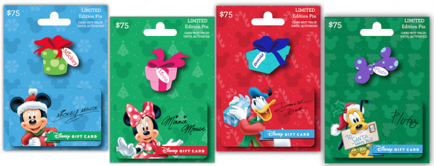 New Disney Trading Pins Come with the Purchase of a Holiday Pin Series Disney Gift Card