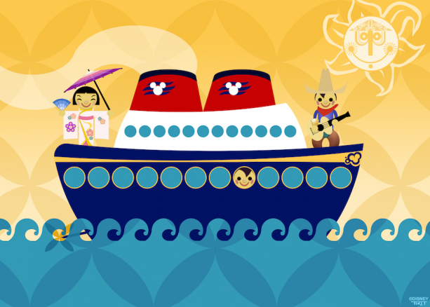 Disney Doodle: 'it's a small world' Children Aboard Disney Cruise Line