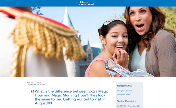 Moms Panel Monday: Extra Magic Hours at Disney Parks