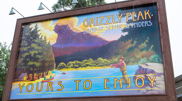 Taking Flight from Grizzly Peak Airfield on Soarin' Around the World at Disney California Adventure Park