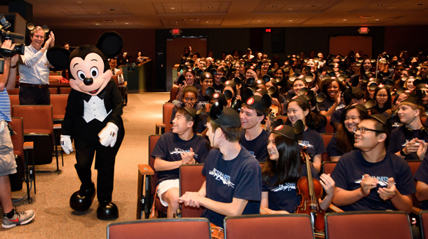 Disney Performing Arts Takes its Music Workshop to North Carolina High School