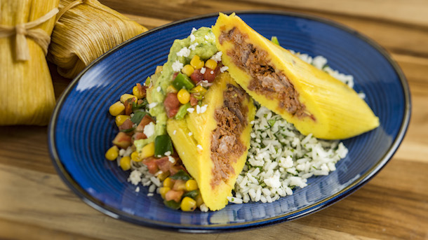 Shredded Beef Tamale from the Feast of the Three Kings Feast in Epcot Nov. 25-Dec. 30