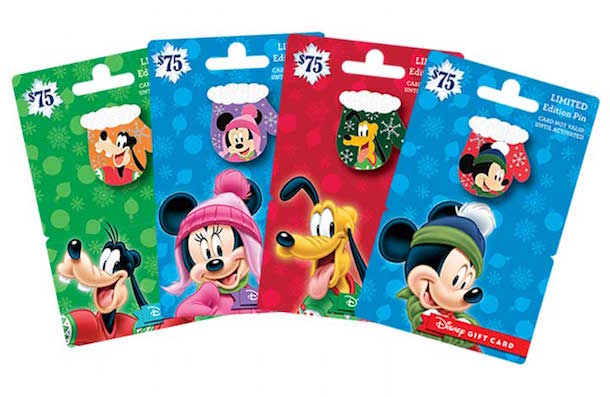 New Disney Trading Pins with the Purchase of a Holiday Pin Series Disney Gift Card
