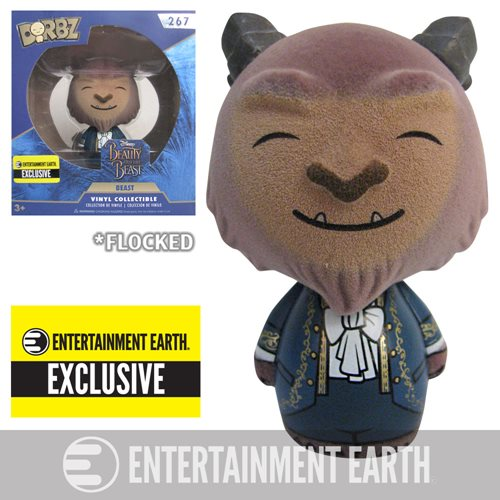 Beauty and the Beast Live Action Beast Flocked Dorbz Vinyl Figure