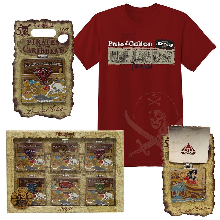 Pirate Treasure Inspires 50th Anniversary Collection For Beloved Swashbuckling Voyage at Disneyland Park