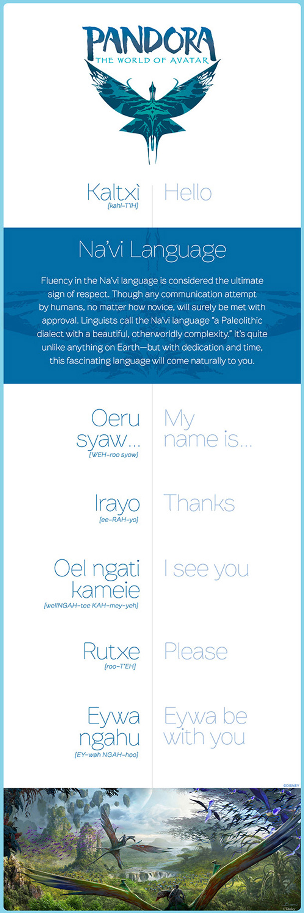 Infographic: Learn to Speak Na'vi For Your Trip To Pandora – The World of Avatar
