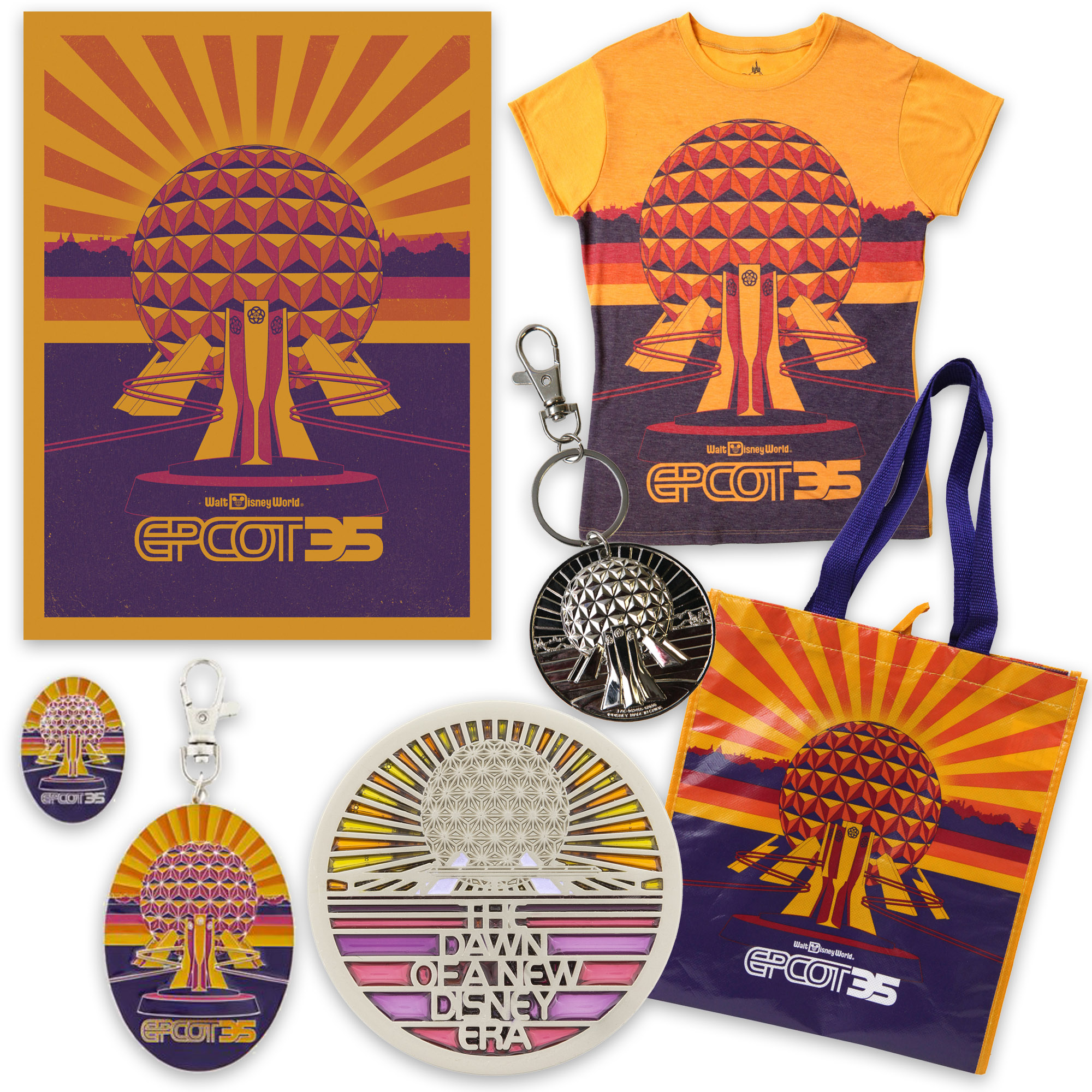 Begin to Dream with Retro-Inspired Merchandise for 35th Anniversary of Epcot This Fall