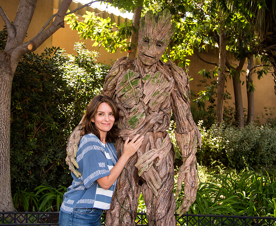 Tina Fey Meets Groot at Disney California AdventurePark