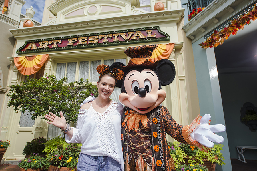 Actress Alyssa Milano Kicks of Fall at the Walt Disney World Resort