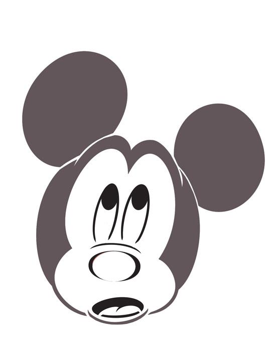 Scared Mickey Disney Halloween Pumpkin