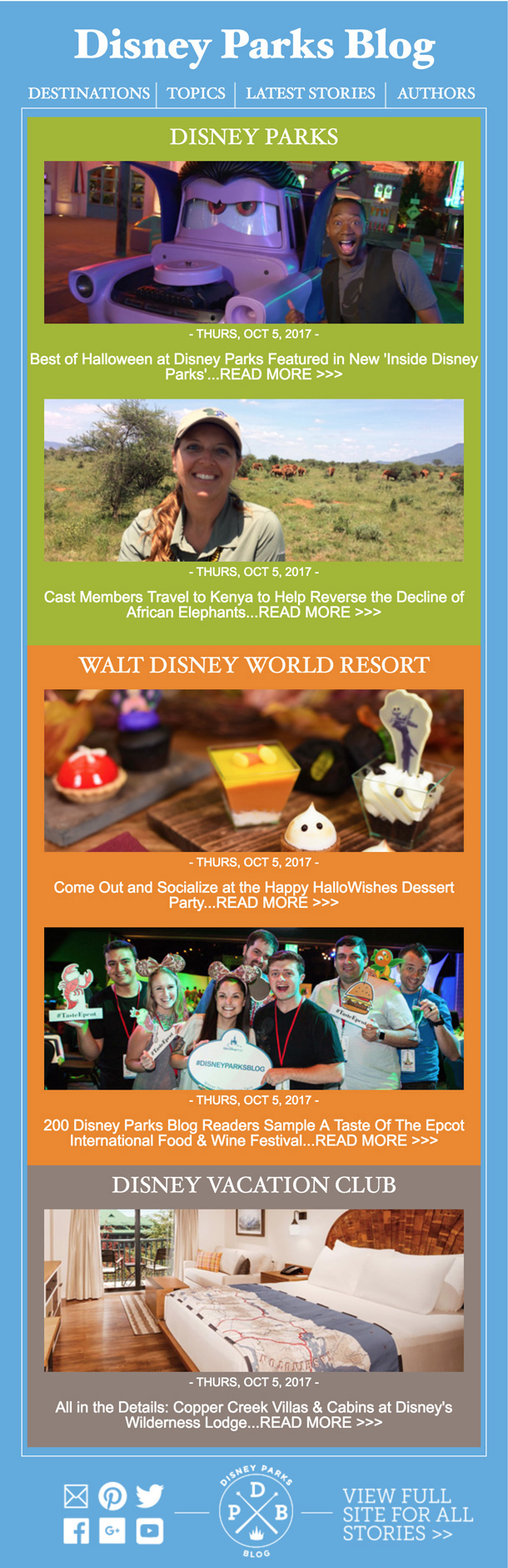 New Disney Parks Blog Email Newsletter Launches Today